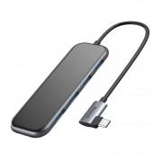 Baseus USB-C Mirror Series Hub CAHUB-EZ0G - мултифункционален хъб за свързване на допълнителна периферия за устройства с USB-C (тъмносив)