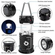 DAWN 12W LED Solar Rechargeable Emergency Light USB Mobile Charging Point Outdoor Travel Camping Light Pack of