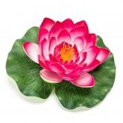 Merkloos Roze lotus/waterlelie kunstbloem 16 cm
