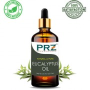 PRZ Eucalyptus Essential Oil (15ML) - Pure Natural & Therapeutic Grade Oil For Aromatherapy Body Massage Skin Care & Hair Care