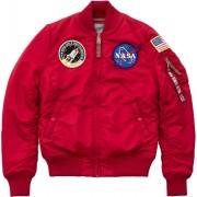 Alpha Industries MA-1 VF NASA Ladies jacka Röd S