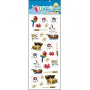 26 stk Klistermärken av Piratkistor, Papegojor och Dödskallar
