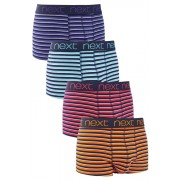 Mens Next Stripe Hipsters Four Pack - Multi