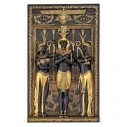 Design Toscano The Egyptian Pharaoh and His Maidens Escultura de Pared, Dos Tonos Negro y Dorado