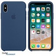 Cover Custodia ORIGINALE Apple Iphone X 10 BLU COBALTO Silicone Case MQT42FE/A
