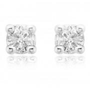 My First Diamond Cercei pentru Copii Borealy Aur Alb 9 K Square Solitaire Diamond