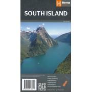 Wegenkaart - landkaart South Island (Zuider Eiland - Nieuw Zeeland)   Hema Maps