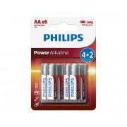 Philips LR6P6BP/10 - 6 buc baterii alcaline AA POWER ALKALINE 1,5V