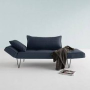 Innovation Zeal Hairpin Schlafsofa B: 2000 H: 810 T: 700 mm, schwarz/blau 95-740021515-2-14-2