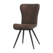 Esszimmerstuhl Stuhl 2er Set Norwin dunkelbraun Microfaser 10787