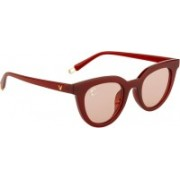 Clark N' Palmer Retro Square Sunglasses(Red)