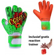 Elite - Crash junior - Keepershandschoenen - inclusief Reaction trainer - maat 5 - voetbal keepershandschoenen - keepershandschoenen junior - Goalkeeper handschoen
