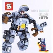 Heroes Assemble - Iron Man MK1 robot Tony Stark figurával