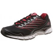 Fila Men's Memory Countdown Black, Dark Silver and Fila Red Running Shoes -8 UK/India (42 EU)