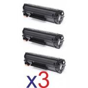 HP Conjunto 3x Toner HP 83A Black CF283A Compativel