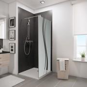 Schulte Home Paroi latérale pour porte de douche pivotante 80 cm, anticalcaire
