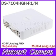 Multilanguage HIKvision DS-7104HGH-F1/N 720P 4CH Turbo XVR DVR Support HD TVI Analog AHD Camera