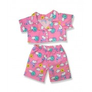 """Pink Cloud Pjs Outfit Teddy Bear Clothes Fits Most 14"""" - 18"""" Build-a-bear, Vermont Teddy Bears, and Make Your Own Stuffed Animals"""