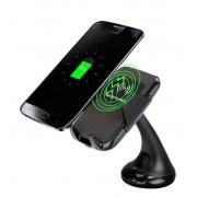 Vezeték nélküli wireless Qi töltő autós telefontartó dokkoló 5w
