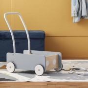 Kids Concept Lära-Gå-Vagn Gråblå