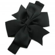 ELENXS infantil de los bebés del arco de la venda de la flor de los accesorios del pelo elástico magnífico encantador suave práctica Negro
