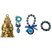 only4you Sri Hanuman Chalisa Yantra Hanuman Kawach With Gold Plated Chain Nazar Suraksha Yantra - FREE