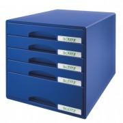 Cabinet cu sertare, 5 sertare, albastru, LEITZ Plus