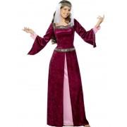 Costum carnaval femei Maid Marion Burgundy