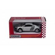 Audi R8, Silver Blue - Kinsmart 5315WSV - 1/36 Scale Diecast Model Toy Car