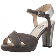 Clarks Women's Kendra Petal Grey Leather Fashion Sandals - 5 UK/India (38 EU)