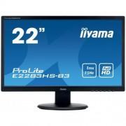 Monitor iiyama E2283HS-B3, 22'', 1ms, 250cd/m2, FullHD, 1000:1 (12M:1 ACR), VGA, HDMI, DP, repro, čierny