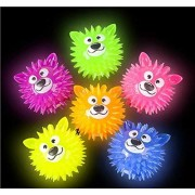 shop zoombie Bear Light-up Ball Squeaky Flashing Toy Ball - Party Favors, Glow Parties, prizes, Sensory Toys, Easter Baskets, Stocking Stuffers (12 Pack)