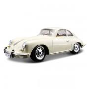 Macheta Masina Porsche 356B Coupe 1961 BBURAGO Scara 1:24 White