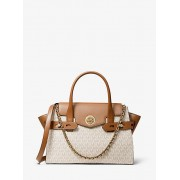 Carmen Large Logo And Leather Belted Satchel