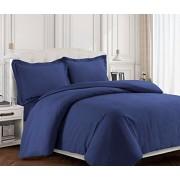 TRIBECA LIVING Valenduvetquch Valencia Juego de Funda de cobertor y Funda de Almohada, Queen, Color Chocolate, Contemporáneo, Azul (Moonlight Blue), Individual, 1, 1