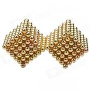 CHEERLINK 5mm bolas de iman DIY / juguetes educativos de hierro neodimio set - dorado (432 PCS)