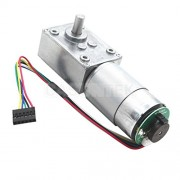 ELECTROPRIME® 80rpm DC 12V Gear Box High Torque Geared Motor Speed Reducer with Encoder