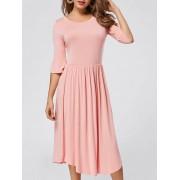 rosegal Ruffle Sleeve Jersey Midi Dress