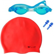 Onex Swimming Combo kit of Swim Cap Swim Glasses and Ear Plugs for Girls Boys