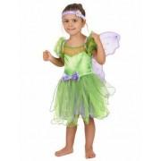 Disfraz hada verde para niña 3-4 años (98-104 cm)