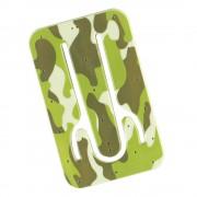 Suport telefon flexibil Camuflaj, TG by AleXer, 8190139, verde, plastic, metal, saculet si laveta incluse