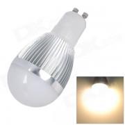 L20121226-3 GU10 3W 3500K 300lm 6-SMD 5630 LED lampara de luz blanca calida - plata + blanco