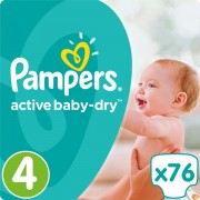 Pampers pelene Active Baby 4 Maxi, 76 kom