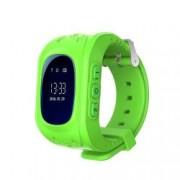 Ceas Smartwatch Pentru Copii Wonlex Q50 cu Functie Telefon Localizare GPS Pedometru SOS - Verde Bonus Cartela Prepaid Vodafone 10