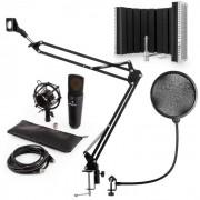Auna MIC-920BL USB set de micrófonos V5micrófono de condensador brazo de micrófono escudo protección anti pop negro (60001980-V5)