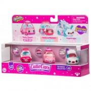 Set 3 masinute Moose Toys Shopkins Cutie Cars S3 Tea Brake