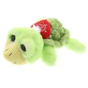 DolliBu Large Green Sea Turtle I Love You Valentines Stuffed Animal - Heart Message 8 Inch Super Soft Plush (K5390 5998)