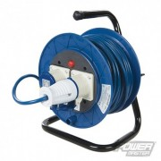 Industrial Cable Reel 16A 230V - 2-Gang 25m 851543 5024763181009 PowerMaster