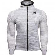 Gorilla Wear Keno Zipped Hoodie - White/Black - 4XL