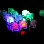 Ugetde® 24 Pcs Flashing Submersible LED Lights, Multi-Color Liquid Sensor Ice Cubes Light LED Glow Light Drinking Wine Wedding Party Champagne Tower Decoration (24Pcs Cube, Multicolor)